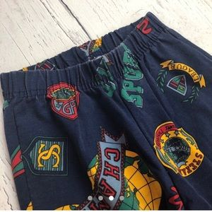 Vintage all over print Joggers / sweatpants Small